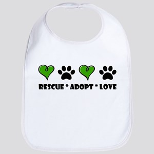 Rescue*Adopt*Love Bib